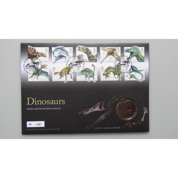 2013 Royal Mail / Royal Mint - Dinosaurs - Medallic Coin Cover - uk-cover-lover