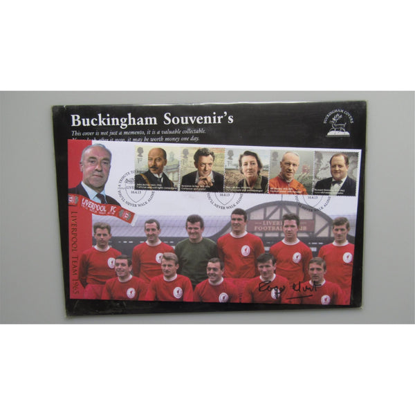 2013 Buckingham Covers - A Tribute to Bill Shankly - Roger Hunt Signed Cover - uk-cover-lover