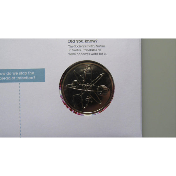 2010 Royal Mail / Mint - The Royal Society 350 Years - Medallic Coin Cover - uk-cover-lover