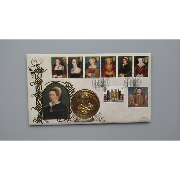 1997 G.B Medal Cover - Six Wives of Henry VIII - uk-cover-lover