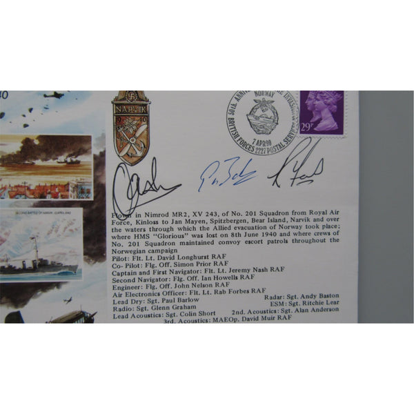 JS/50/40/1 - Invasion Of Norway 7 April 1940 - Multi Signed & Flown Cover - uk-cover-lover