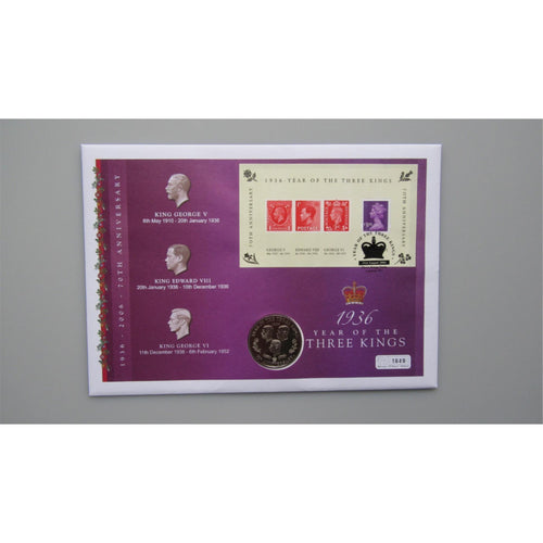 2006 Great Britain - 1936 The Year of the Three Kings - Commemorative Coin Cover - uk-cover-lover