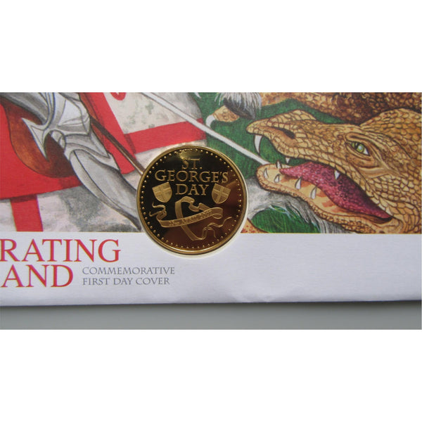 2007 G.B - Celebrating England - Commemorative Coin Cover - uk-cover-lover