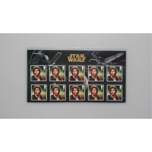 2015 G.B Star Wars Souvenir Pack - Han Solo - 10 x 1st Class Mint Stamps - uk-cover-lover