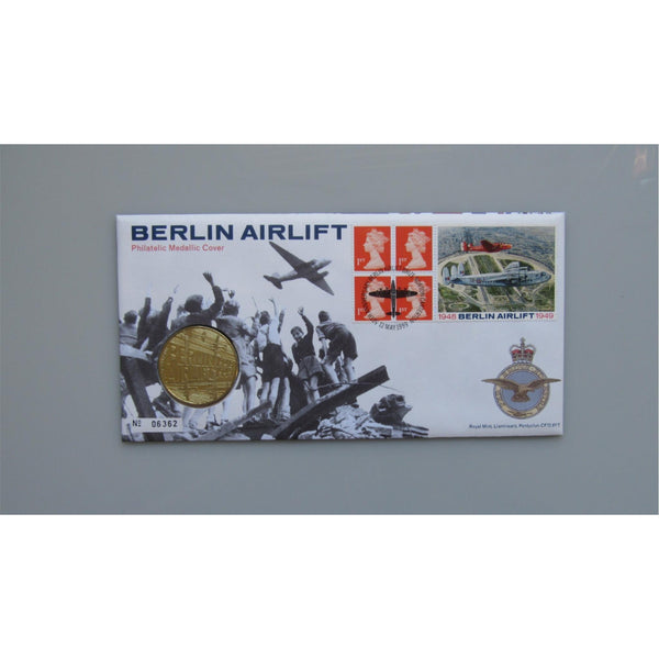1999 Royal Mint - Berlin Airlift - Philatelic Medallic Cover