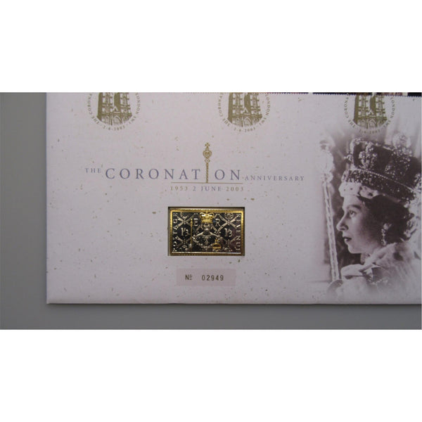 The Coronation Anniversary - 24 Carat Gold Plated & Sterling Silver Ingot Cover
