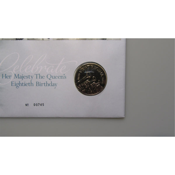 2006 - Her Majesty The Queens Eightieth Birthday - £5 Coin Cover