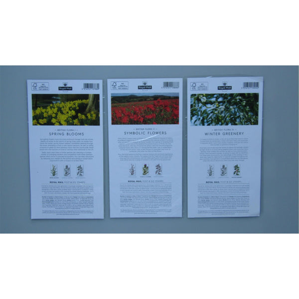 Royal Mail Post And Go Stamps - British Flora I, II & III (All 3 Packs, Mint)