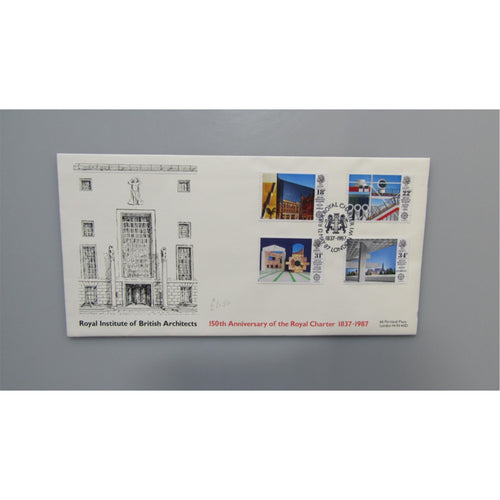 "G.B FDC - British Architects In Europe  PM ""RIBA Royal Charter, London"" 12/05/87"