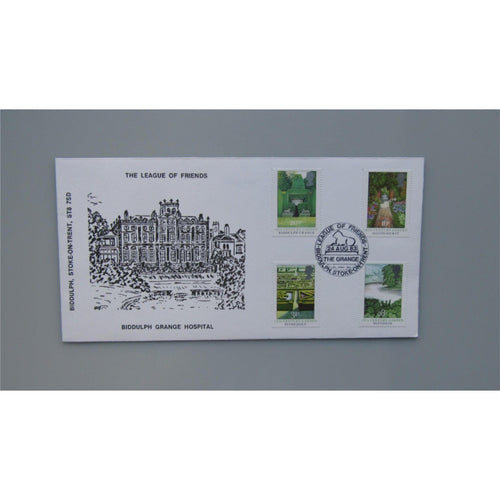 1983 G.B Official FDC British Gardens PM League of Friends, The Grange, Biddulph