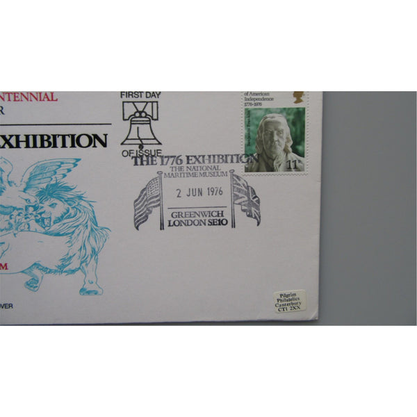 1976 G.B FDC - USA Bicentenary PM '1776 Exhibition, National Maritime Museum'