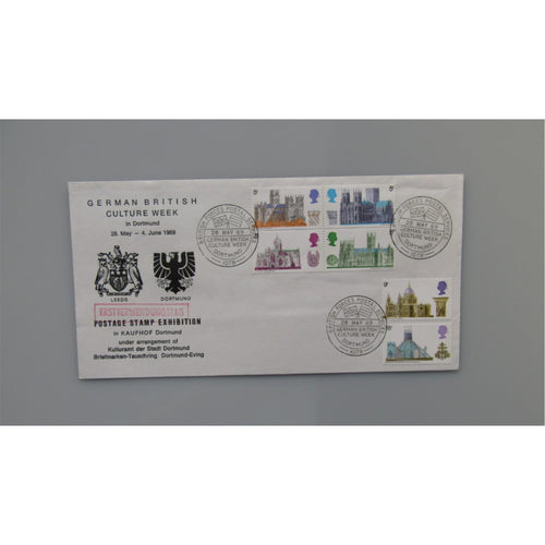 1969 G.B First Day Cover - British Cathedrals PM German British Culture Week