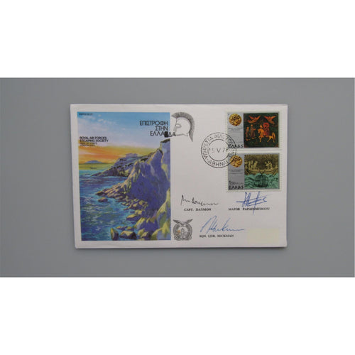 RAFES SC20 - Royal Air Force Escaping Society Escape From Greece - Signed Cover