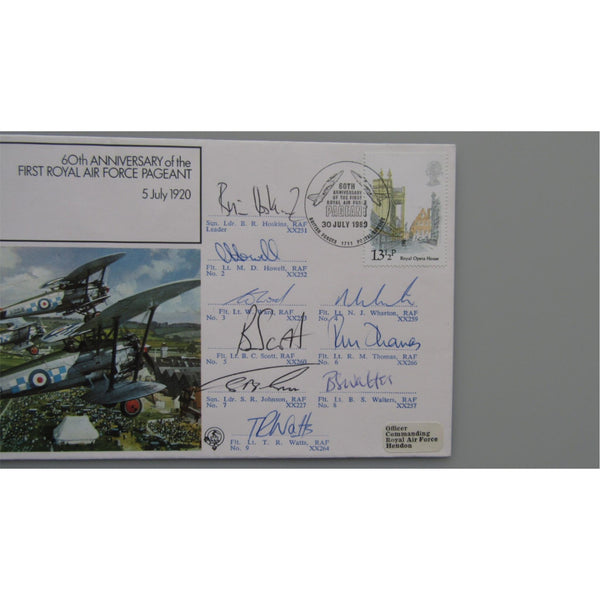 RAF FF 19 - 60th Anniversary First RAF Pageant - Red Arrow Pilot Signed Cover