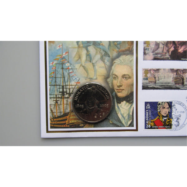 Benham 2005 - The Battle of Trafalgar Bicentenary £5 Five Pound Coin Cover