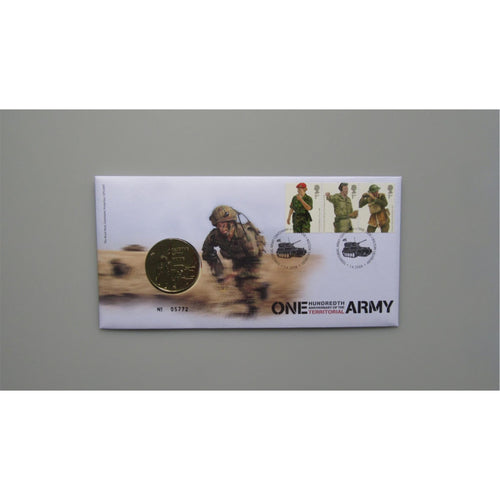 2008 - One Hundredth Anniversary Of The Territorial Army Medal Cover