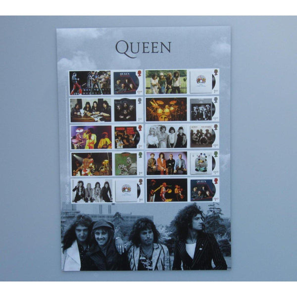 2020 Royal Mail - Queen Album Cover Collector's Sheet (A4 Size) MNH