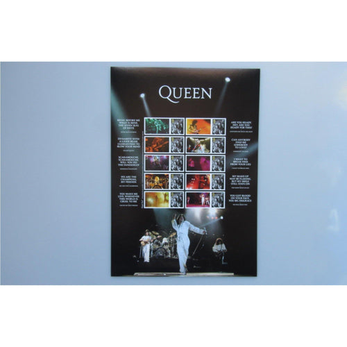 2020 - Queen Live Collectors Sheet (A4 Size MNH)
