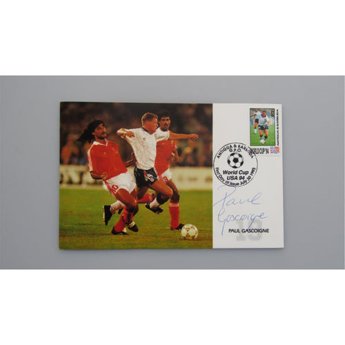Paul Gascoigne Autographed Commemorative Postcard