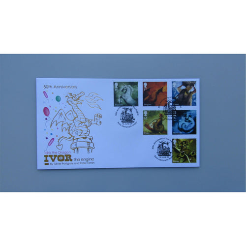 2009 Buckingham Covers First Day Cover - Mythical Creatures - PM Ivor The Engine