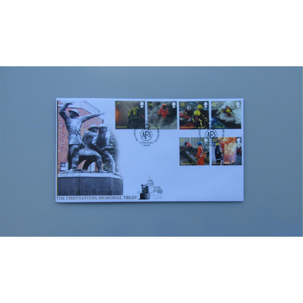 2009 Buckingham Covers FDC - Fire & Rescue - PM AFS Auxiliary Fire Service