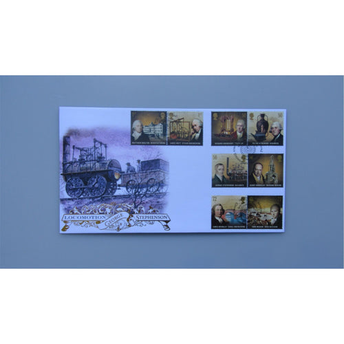 2009 Buckingham Covers FDC - Industrial Revolution - PM George Stephenson