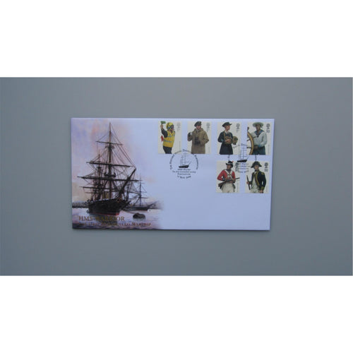 2009 Buckingham Covers First Day Cover - Royal Navy Uniforms - HMS Warrior