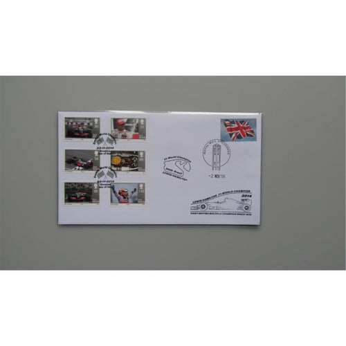 2008 Buckingham Covers - Lewis Hamilton F1 World Champion (Dual Postmarks)
