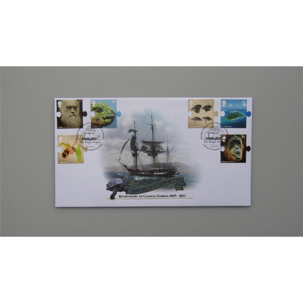 2009 Buckingham Covers FDC - 250th Anniversary Of The Birth Of Charles Darwin