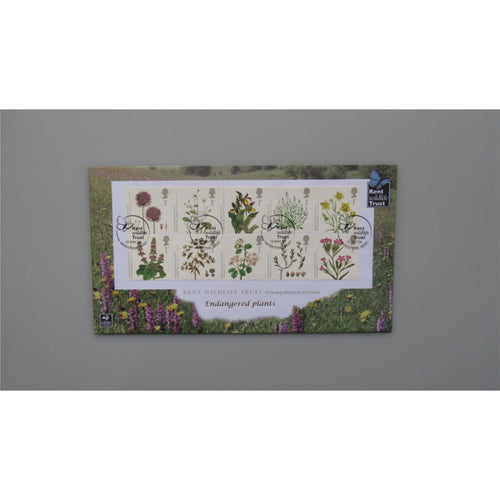 2009 Buckingham Covers FDC - Endangered Plants - PM Kent Wildlife Trust