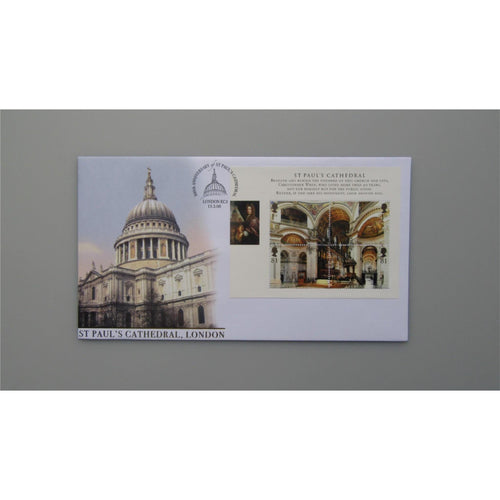 2008 Buckingham Covers Miniature Sheet Cover - Cathedrals :- St Paul's Cathedral