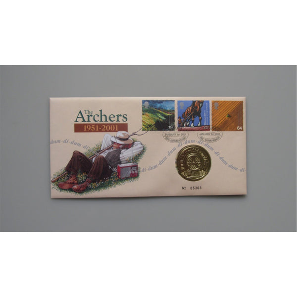 2001 G.B Coin Cover - The Archers