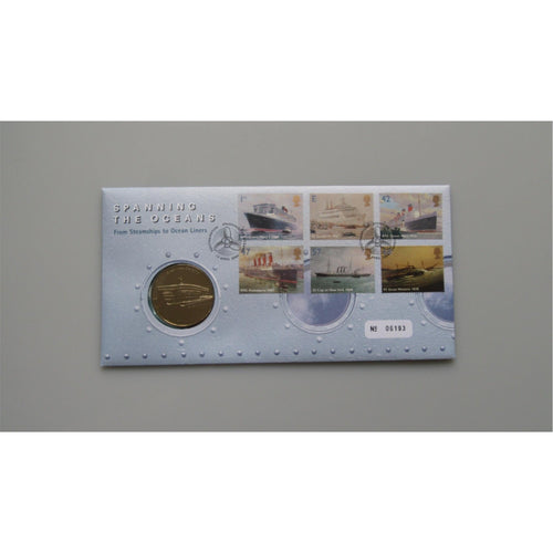 G.B 2004 Coin Cover - Spanning The Oceans