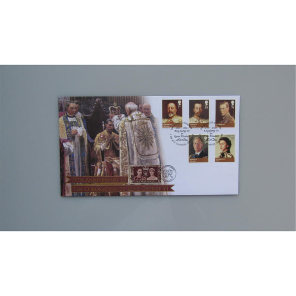 Buckingham Covers 2012 FDC - House Of Windsor - The Coronation of King George VI