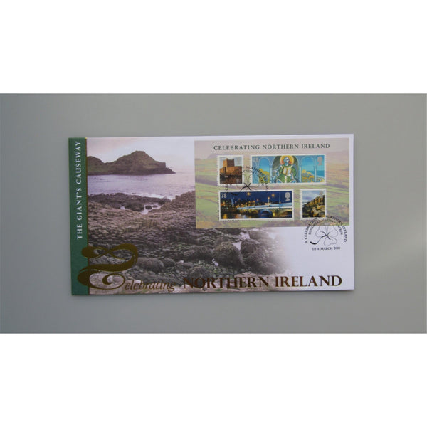 2008 Buckingham Covers - Celebrating Northern Ireland Miniature Sheet Cover