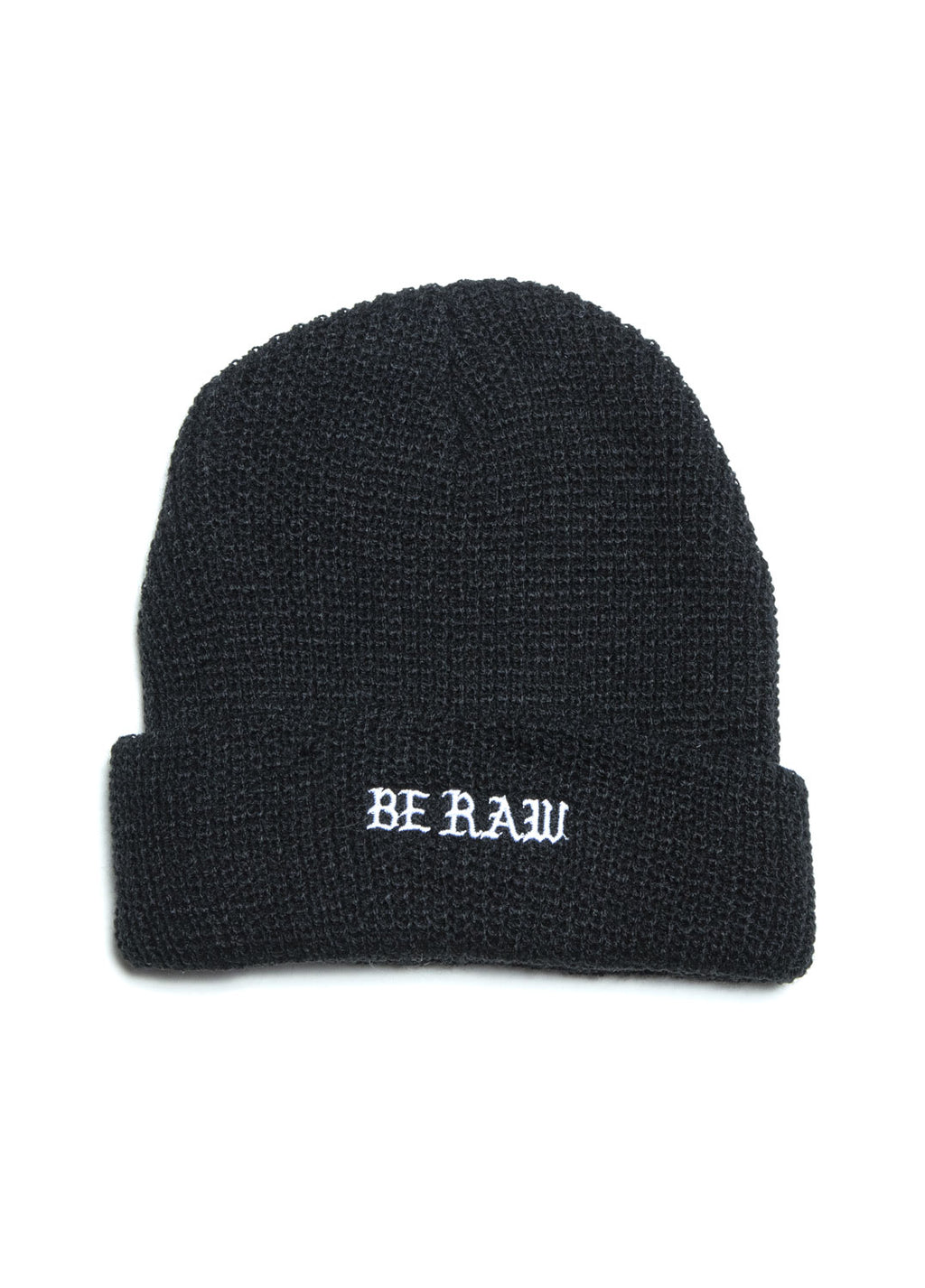 Micro Beanie - Old English  Be Raw logo