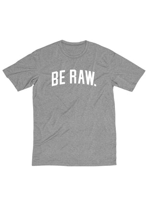 Tee - Be Raw Block - Heather Grey Unisex