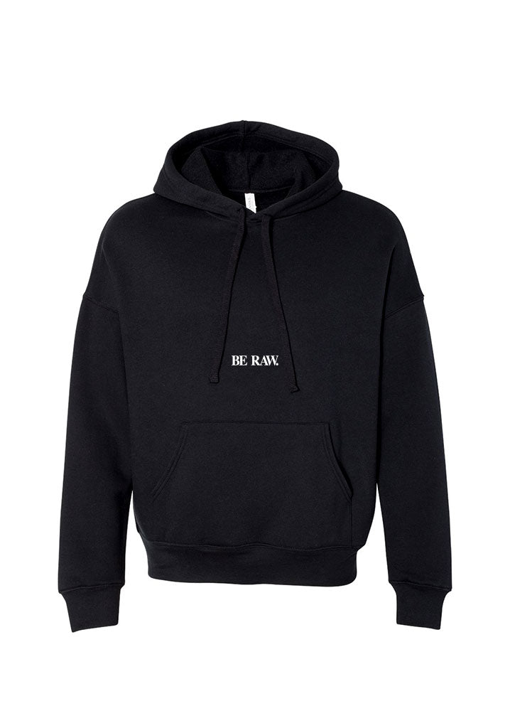 Hoodie - Be Raw logo Simple- Black
