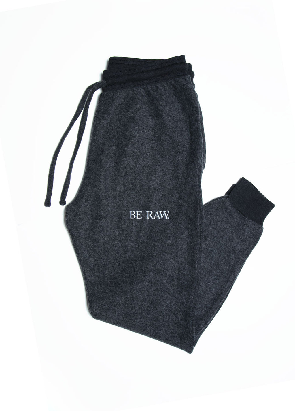 Be Raw - Sueded Fleece - Unisex Jogger (Black Heather)