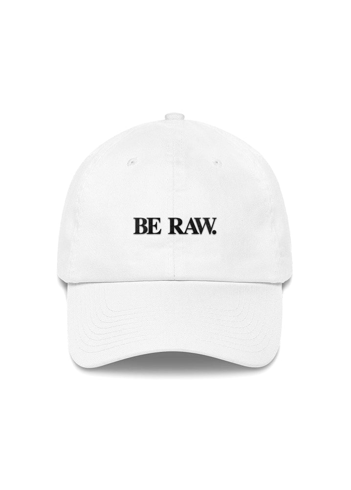 Dad Hat - Be Raw (Simple) White