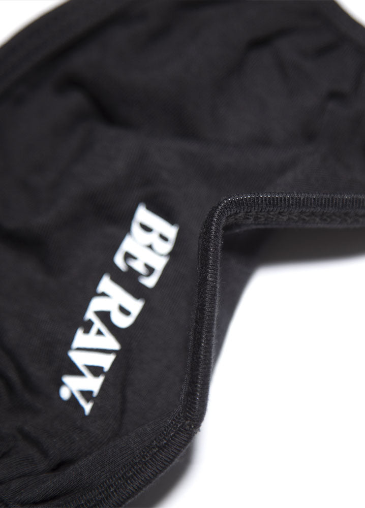 Face Mask - Be Raw logo - Black Adult