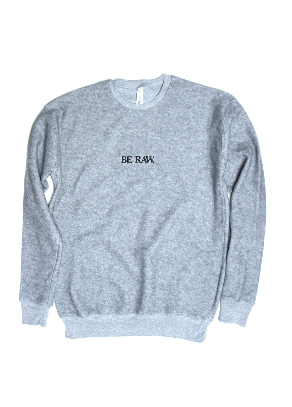 Be Raw - Sueded Fleece - Drop Shoulder Crewneck (Grey)