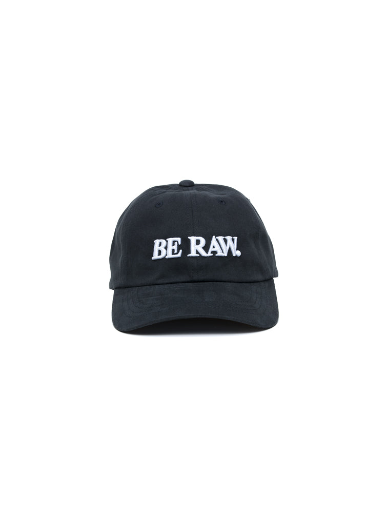 Dad Hat - Be Raw Classic logo White Puff