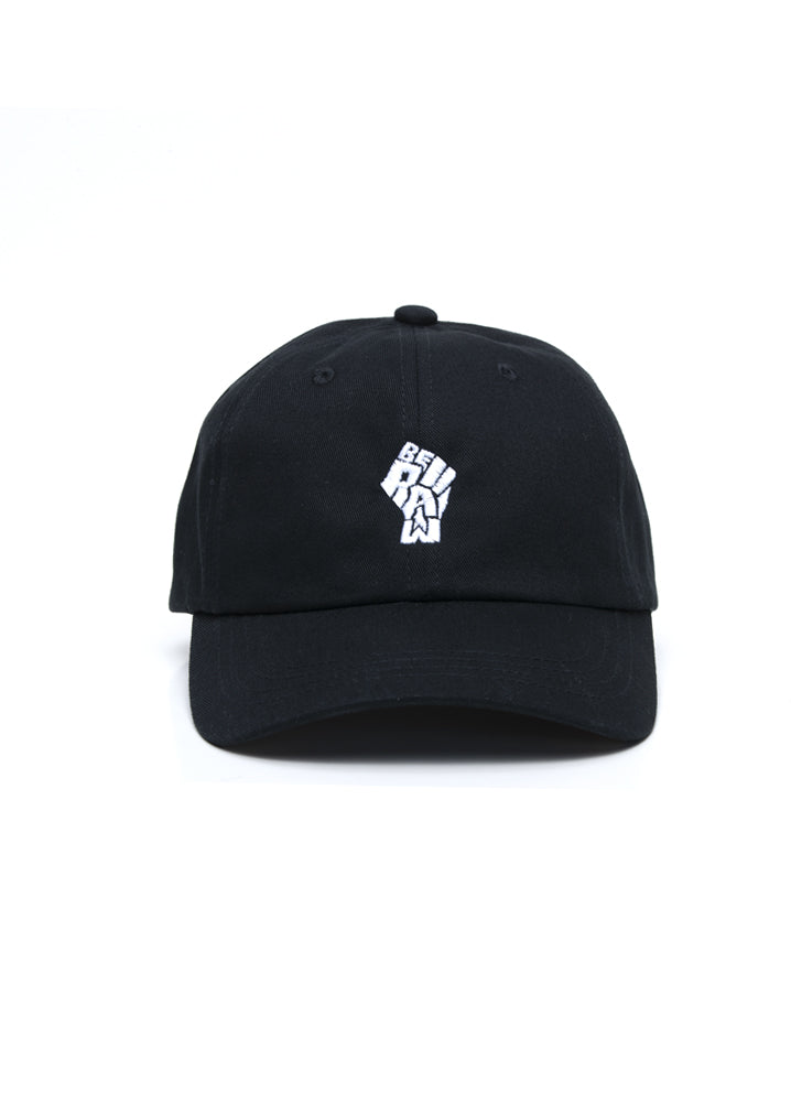 Dad Hat - Be Raw Power Fist - White