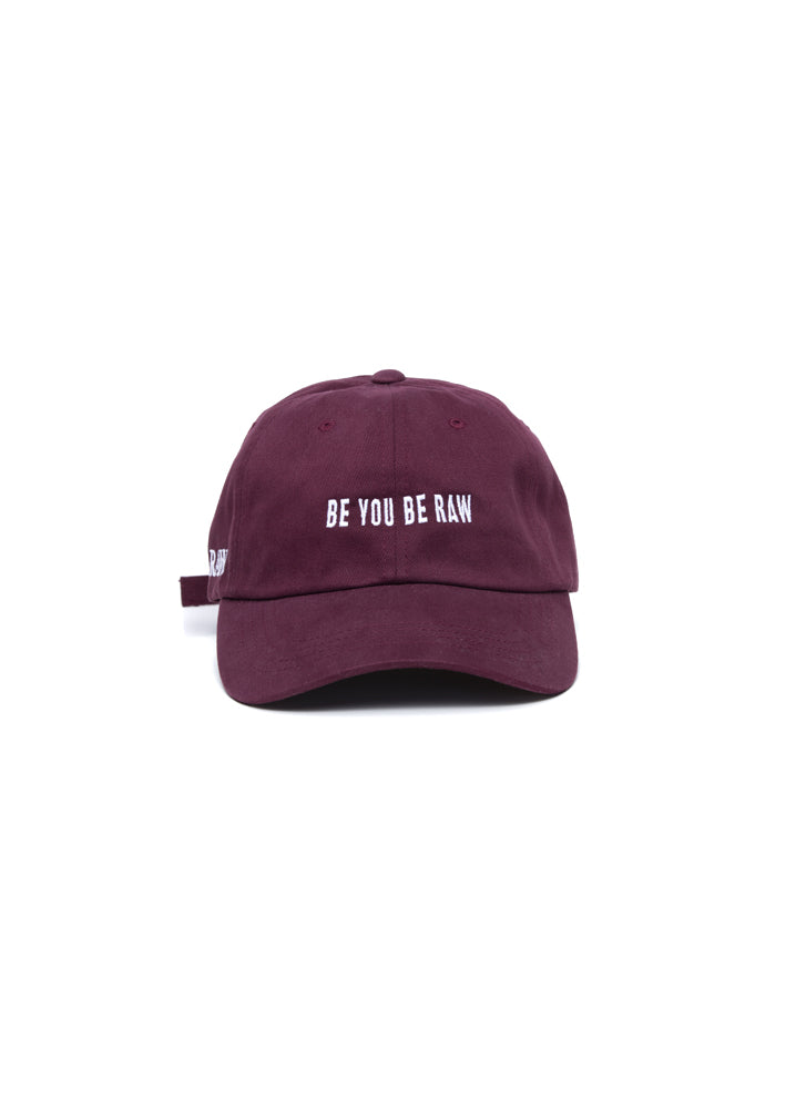 Dad Hat - Be You, Be Raw Maroon