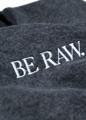 Be Raw - Sueded Fleece - Drop Shoulder Crewneck (Black)