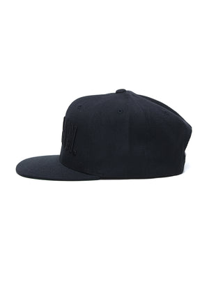 SnapBack - Be Raw Block Logo Puff black