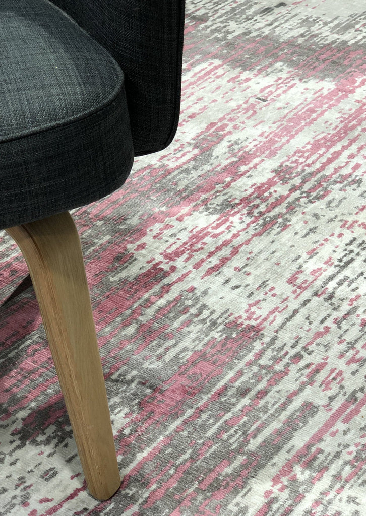 Neo Pink - Abstract Modern Rug - Four Corners Rugs