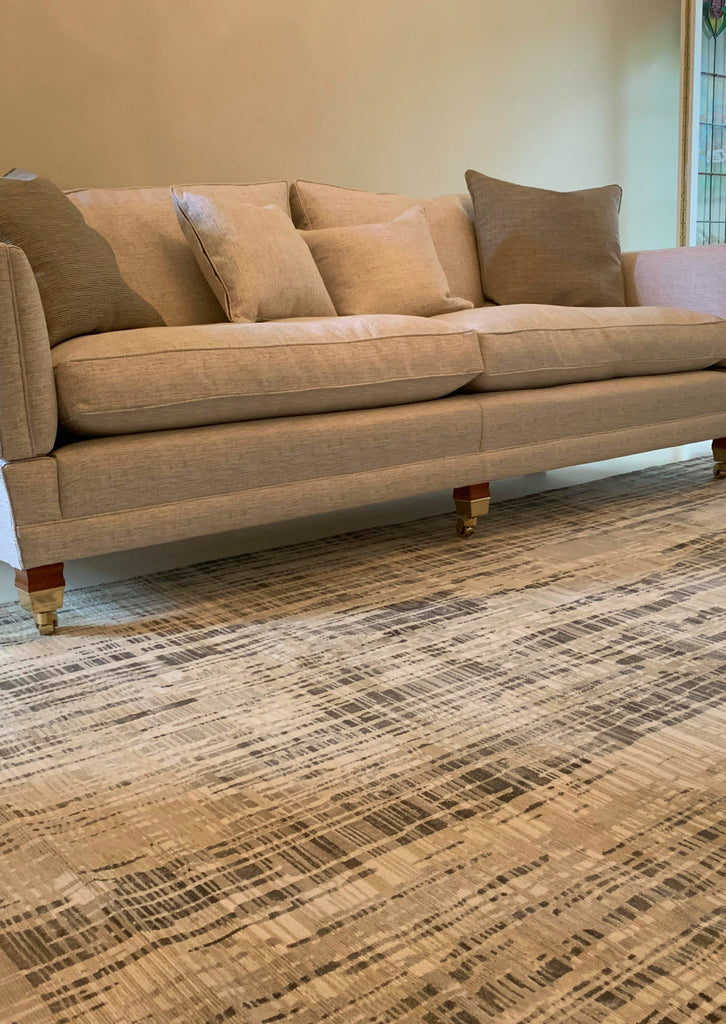 Neo Matrix Latte - Abstract Rug - Four Corners Rugs