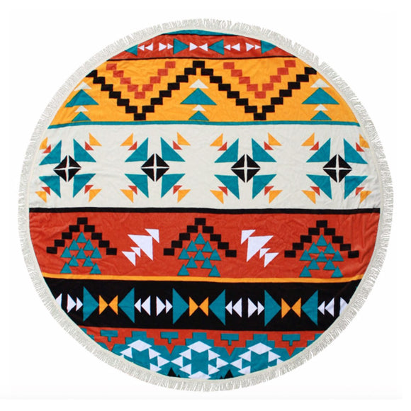 The Hippie Nest Round Towel